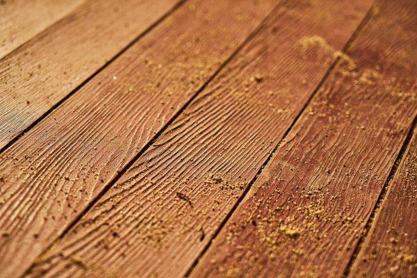 oude houten vloer verwijderen